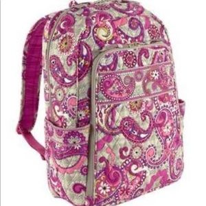 Vera Bradley Paisley Meets Plaid Laptop Backpack